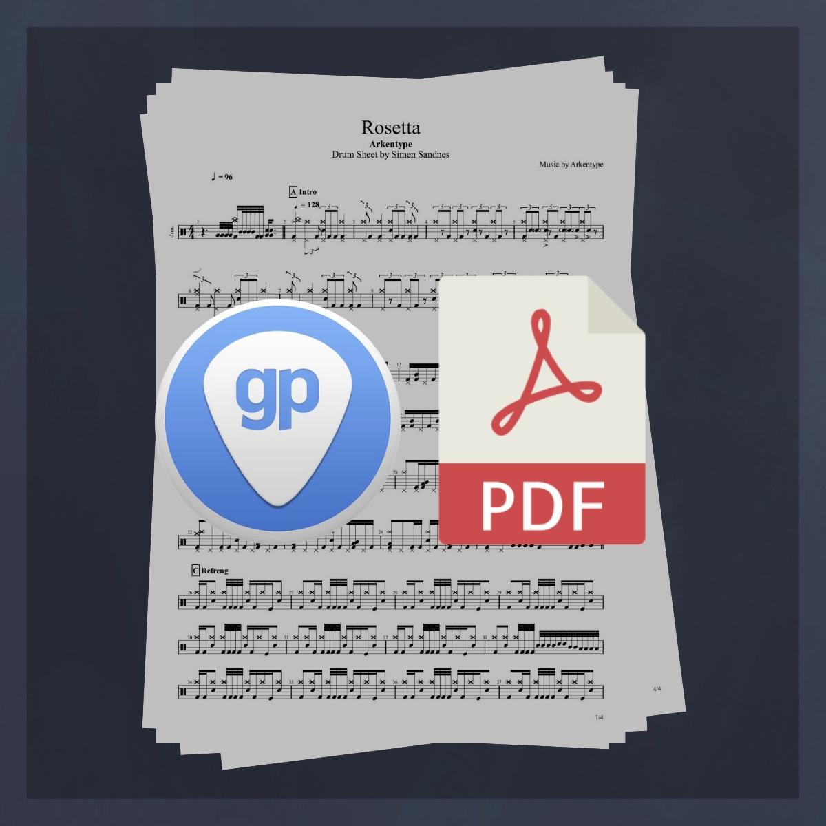 Arkentype Rosetta Drums Sheet Music
